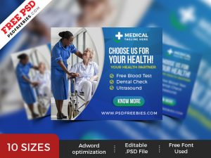 Healthcare Web Ad Banner Set PSD