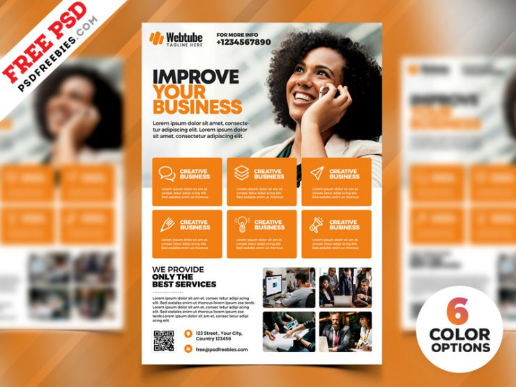 Multipurpose Business Flyer PSD Templates