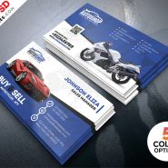Rent A Car Business Card Free PSD