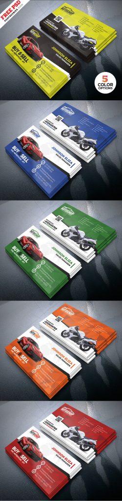 Rent A Car Business Card Free PSD