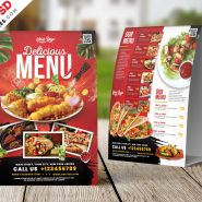 Restaurant Food Menu Table Tent PSD