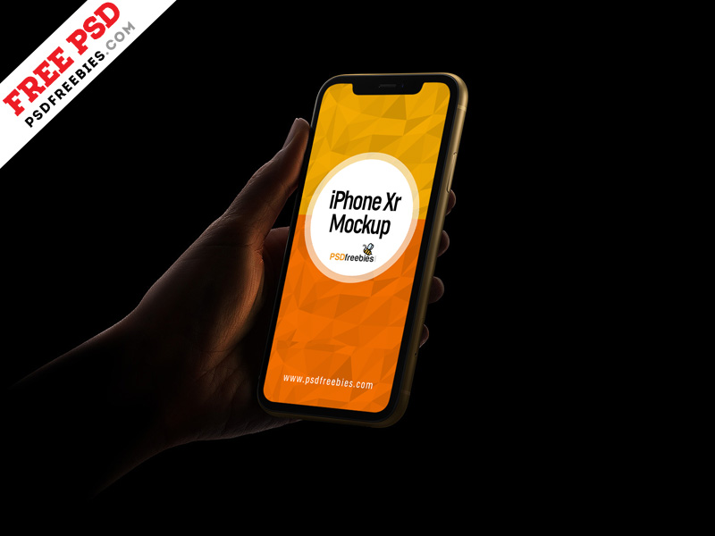 IPhone Xr Mockup PSD