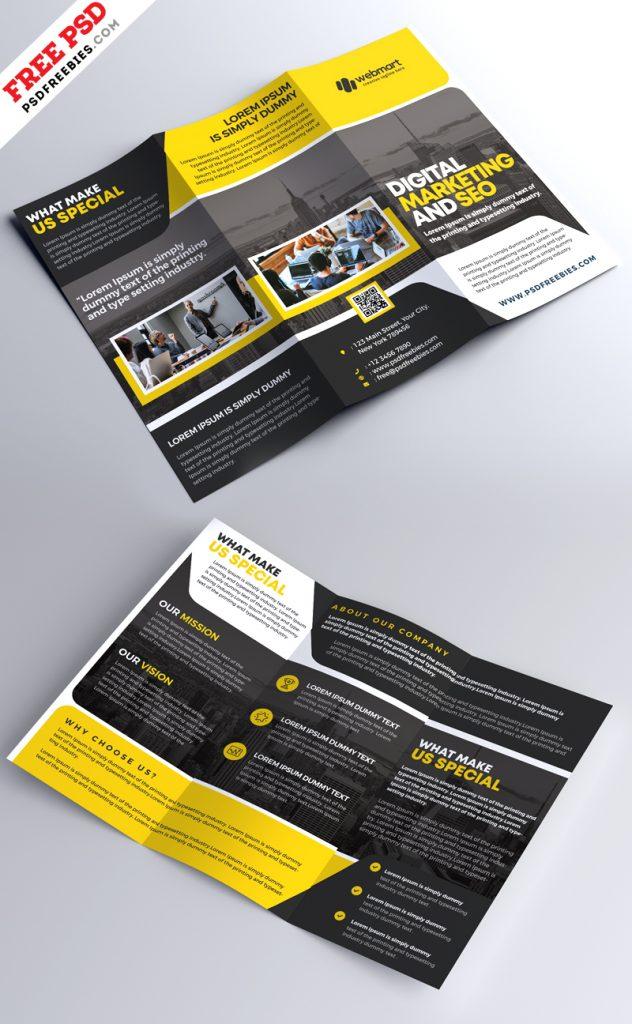 Corporate Tri-fold Brochure Design PSD