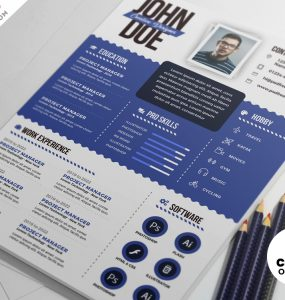 Graphic Designer Resume PSD Templates