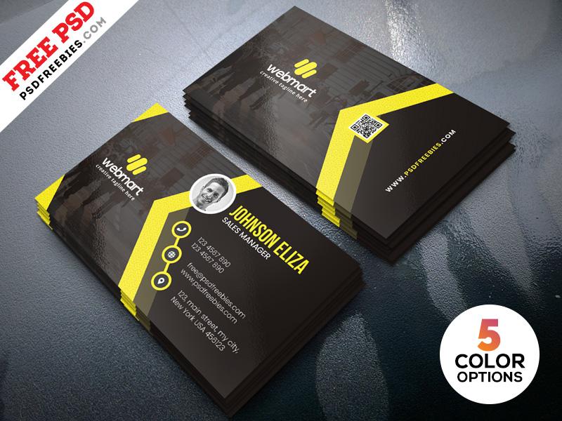 Modern Business Cards Design Templates PSD