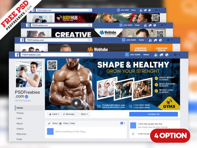 Multipurpose Facebook Cover Templates PSD