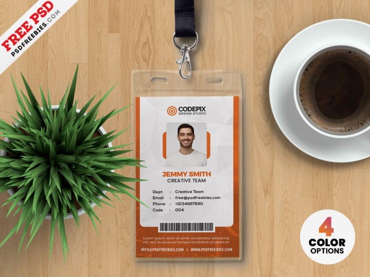 Office ID Card Design Templates PSD