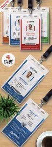 Office ID Card Design Templates PSD