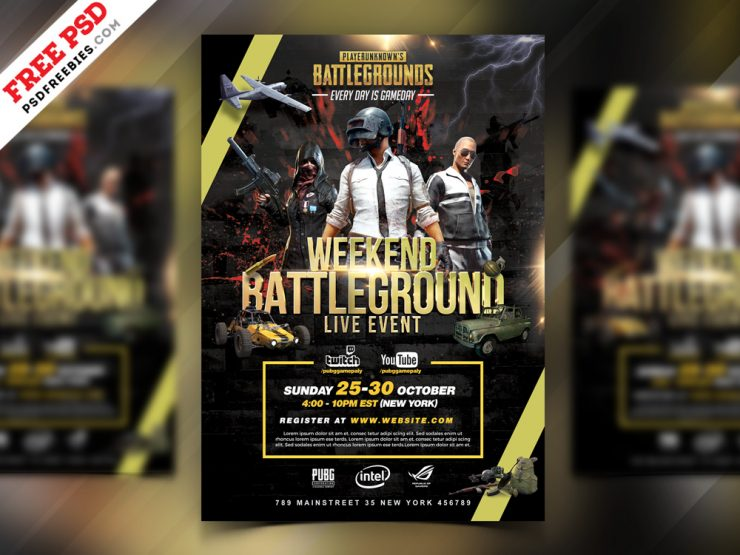 PUBG Tournament Flyer PSD Template