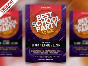 School Party Flyer Template PSD