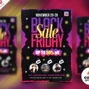 Black Friday Sale Flyer Design PSD