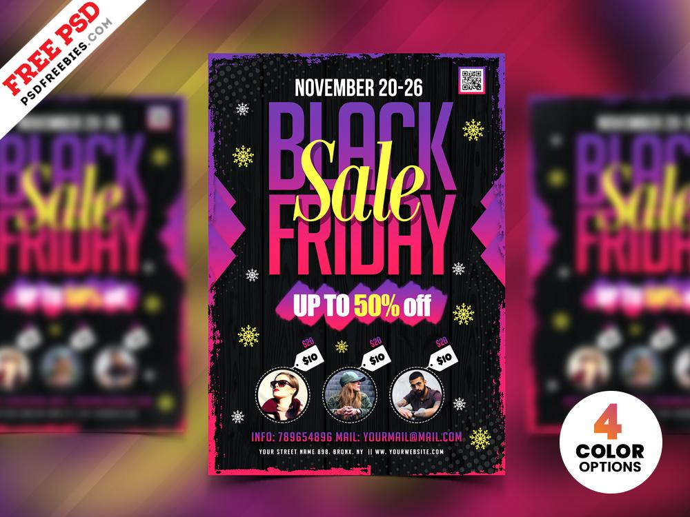 black friday sale flyer design psd psdfreebies com
