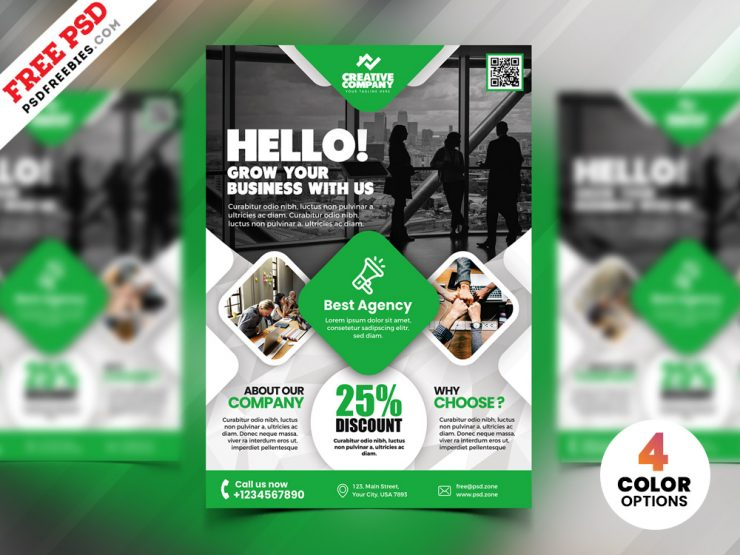 Creative Agency AD Flyer PSD