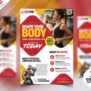 Fitness Body Studio Flyer Designs PSD