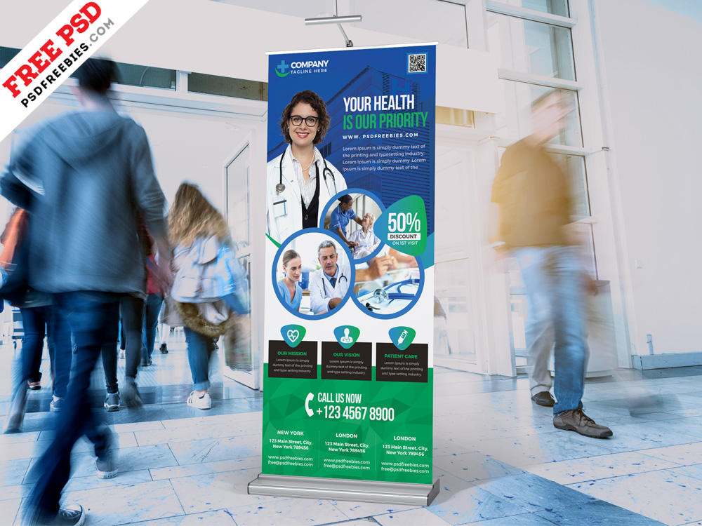 Hospital and Pharmacy Rollup Banner