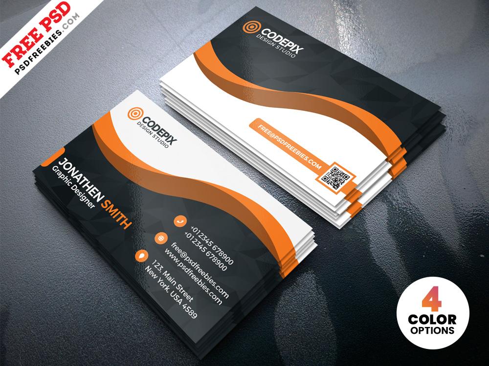 Modern Business Card Designs Template Psd Psdfreebies