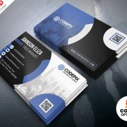 Modern Corporate Business Card Design PSD