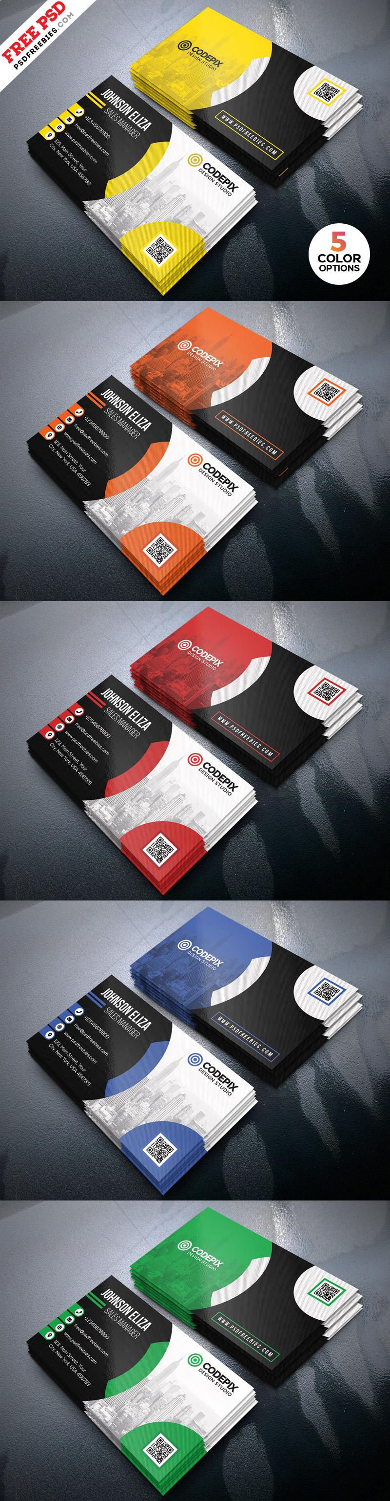 Modern Corporate Business Card Design PSD