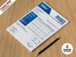 Professional A4 Invoice Design Template PSD