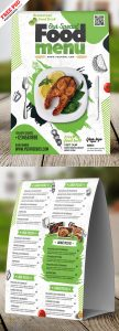 Restaurant Tent card Food Menu Design PSD