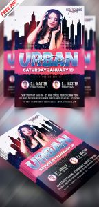 Urban Night Party Flyer PSD