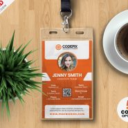Vertical Office Identity Card Design PSD