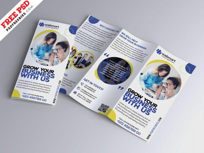 Business Trifold Brochure Design PSD