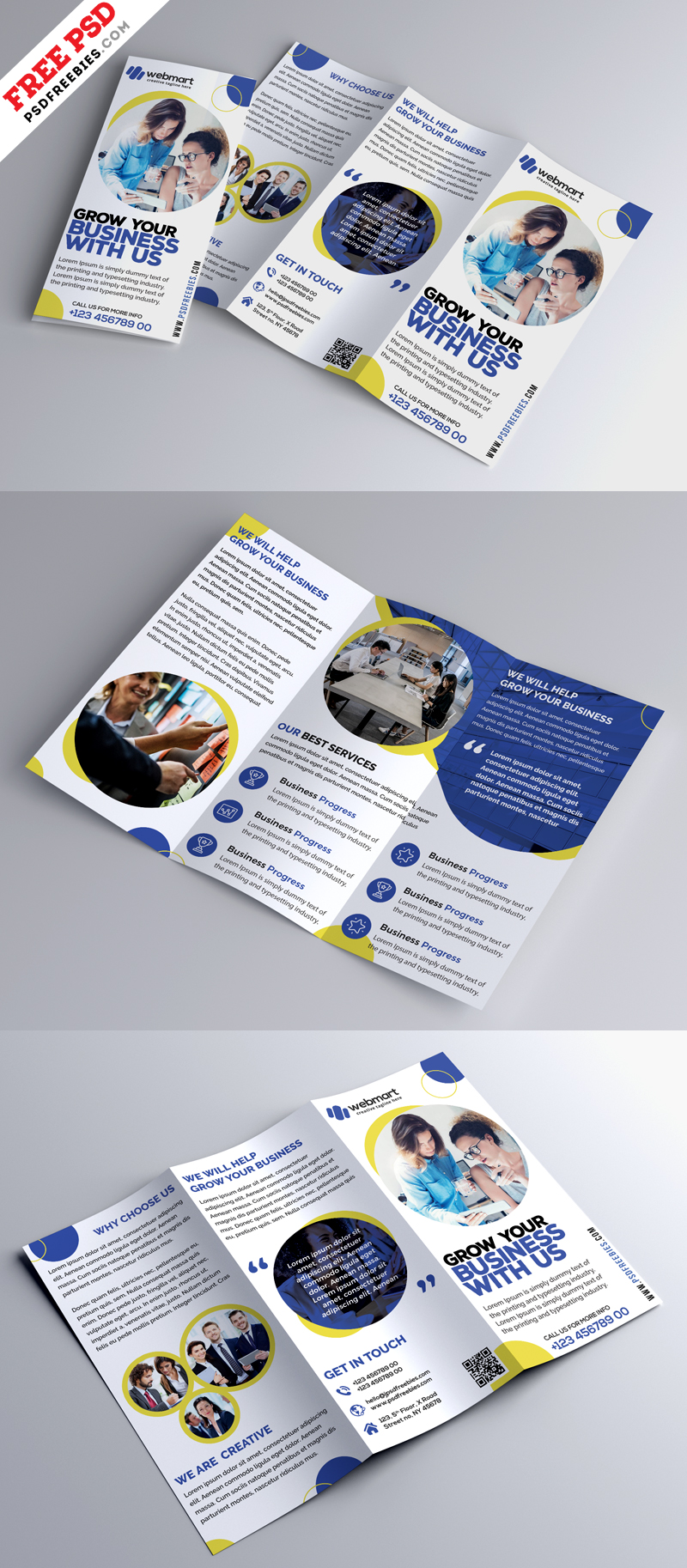 Business Trifold Brochure Design PSD