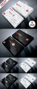 Clean Simple Business Card Templates PSD