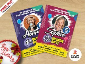 Creative Birthday Party Invitation Card PSD