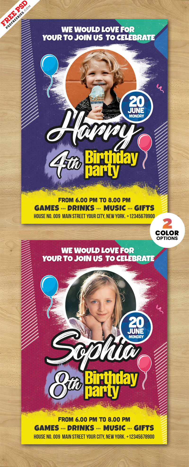 Creative Birthday Party Invitation Card PSD
