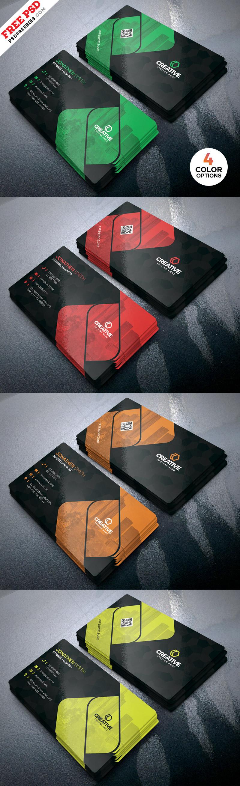 Creative Business Cards Design PSD Template