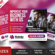 Multipurpose Business Web Banner Set PSD
