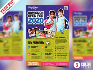 School Admission Open Flyer PSD