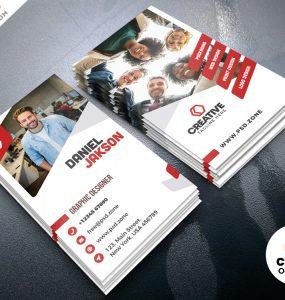 Vertical Creative Business Card PSD
