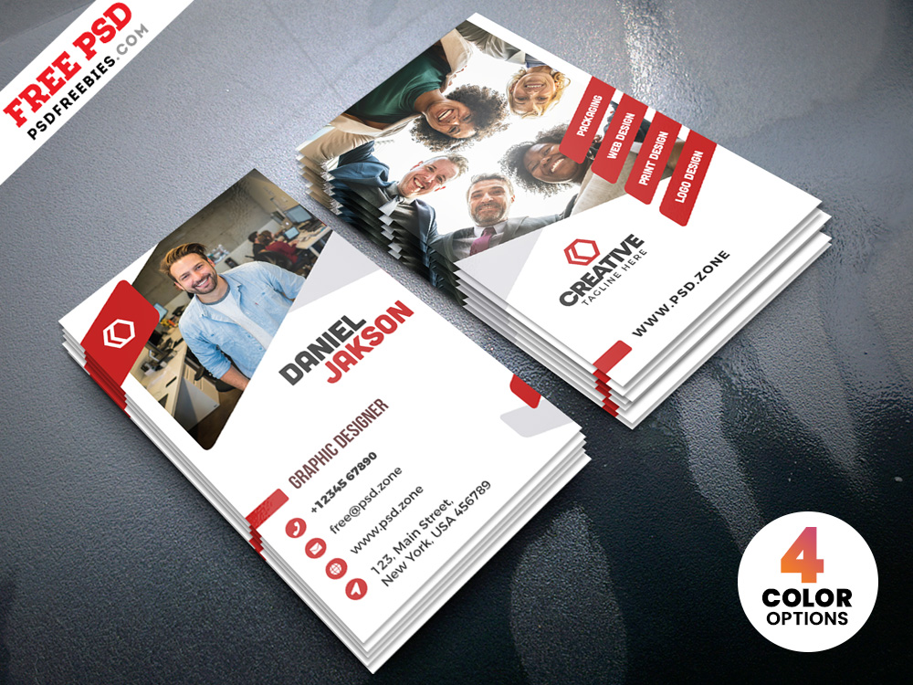 Vertical Creative Business Card Psd Psdfreebies Com