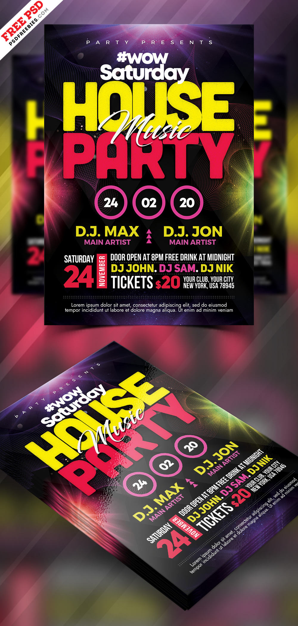 House Party Flyer Design Free PSD