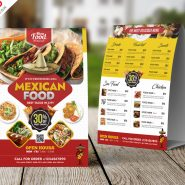 Mexican Food Menu Tent Card PSD