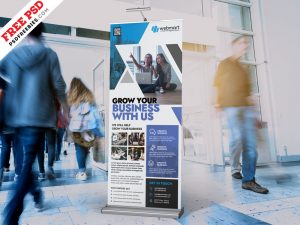 PSD Business Promotion Roll Up Banner