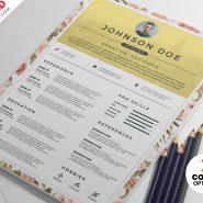 PSD Clean Resume CV Design Templates