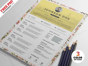 PSD Clean Resume CV Design Template