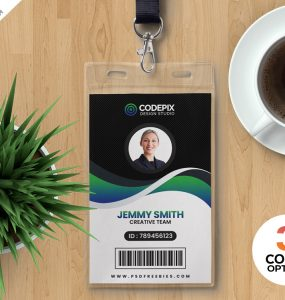 PSD Corporate Employee ID Card Design