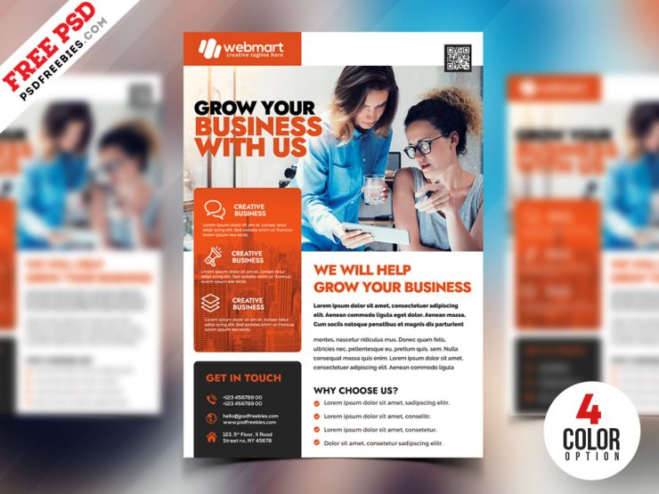 PSD Corporate Flyer Design Template