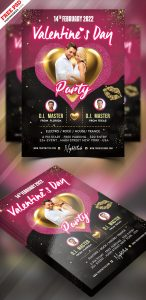 PSD Valentines Day Party Flyer Design