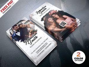PSD Wedding Photographer Business Card