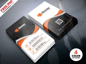 Vertical Business Cards Templates PSD