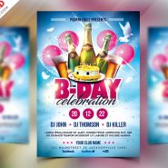 Birthday Party Celebration Flyer Design PSD