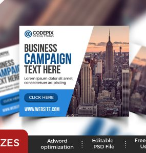 Multipurpose Business Web Banner Ads PSD
