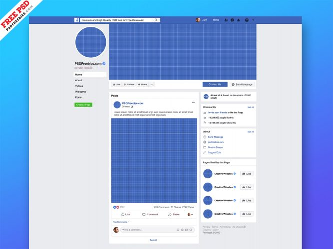 New Facebook Page Mockup