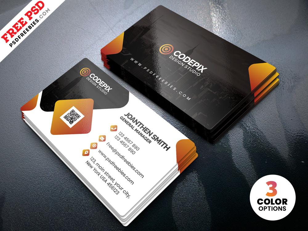 Psd Modern Corporate Business Card Templates Psdfreebies Com
